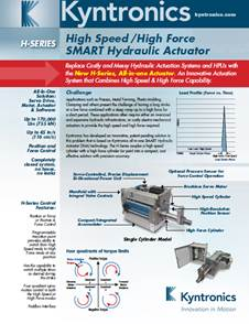 High-Speed / High-Force Actuator Brochure