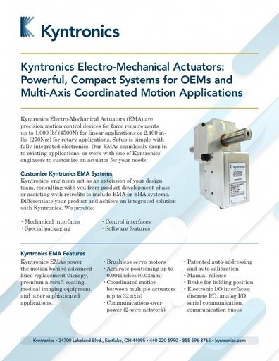 SMART Electro-Mechanical Actuator Brochure