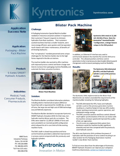 Packaging - Blister Pack Machine