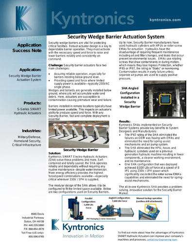 Security Wedge Barrier Actuation System