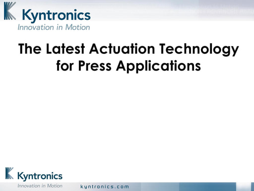 The Latest Actuation Technology for Press Applications