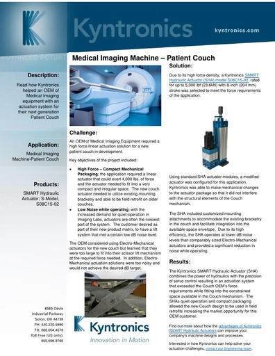 Medical Imaging Patient Couch