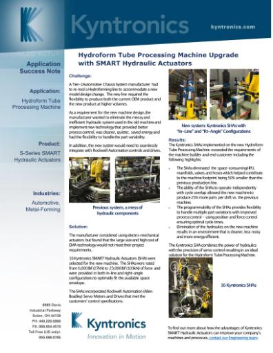 Hydroform Tube Processing Machine