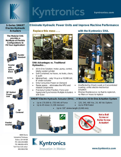Product Bulletin Hydraulic System Replacement