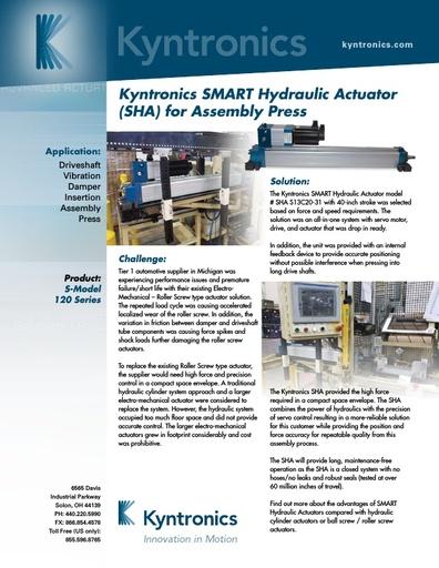 Kyntronics Axle Damper Assembly Press ASN