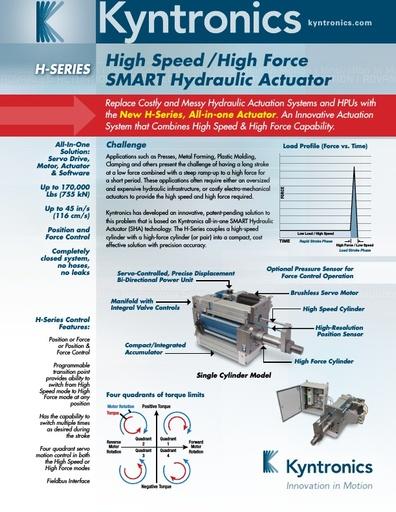 High Speed / High Force Actuator Brochure