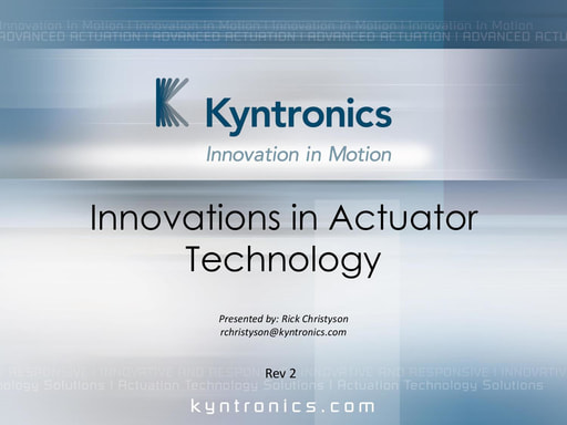 Innovations in Actuator Technology