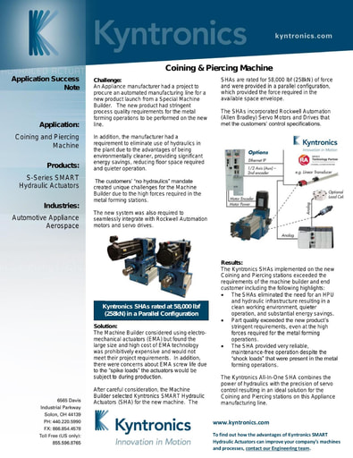 Coining and Piercing Press